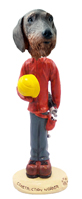 Wire Haired Dachshund Construction Worker Doogie Collectable Figurine