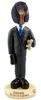 Coonhound Black & Tan Businessman Doogie Collectable Figurine