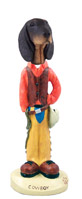 Coonhound Black & Tan Cowboy Doogie Collectable Figurine