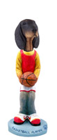 Coonhound Black & Tan Basketball Doogie Collectable Figurine
