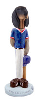 Coonhound Black & Tan Baseball Doogie Collectable Figurine