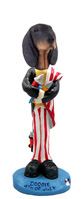 Coonhound Black & Tan 4th of July Doogie Collectable Figurine