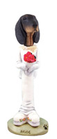 Coonhound Black & Tan Bride Doogie Collectable Figurine