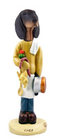 Coonhound Black & Tan Chef Doogie Collectable Figurine