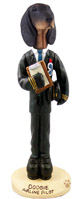 Coonhound Black & Tan Airline Pilot Doogie Collectable Figurine