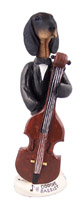 Coonhound Black & Tan Bassist Doogie Collectable Figurine