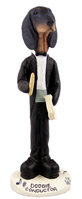 Coonhound Black & Tan Conductor Doogie Collectable Figurine
