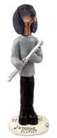 Coonhound Black & Tan Flutist Doogie Collectable Figurine