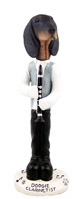 Coonhound Black & Tan Clarinetist Doogie Collectable Figurine