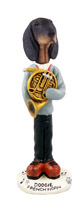 Coonhound Black & Tan French Horn Doogie Collectable Figurine