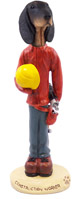 Coonhound Black & Tan Construction Worker Doogie Collectable Figurine