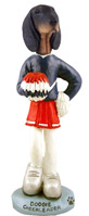 Coonhound Black & Tan Cheerleader Doogie Collectable Figurine