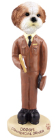 Shih Tzu Tan w/Sport Cut Commercial Driver Doogie Collectable Figurine