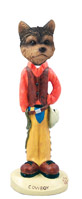 Yorkshire Terrier Puppy Cut Cowboy Doogie Collectable Figurine