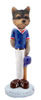 Yorkshire Terrier Puppy Cut Baseball Doogie Collectable Figurine