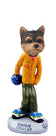 Yorkshire Terrier Puppy Cut Bowler Doogie Collectable Figurine