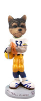 Yorkshire Terrier Puppy Cut Football Player Doogie Collectable Figurine