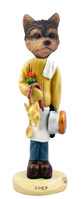 Yorkshire Terrier Puppy Cut Chef Doogie Collectable Figurine