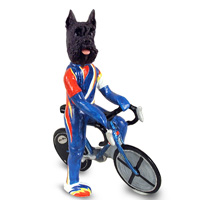 Schnauzer Black Bicycle Doogie Collectable Figurine
