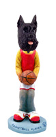 Schnauzer Black Basketball Doogie Collectable Figurine