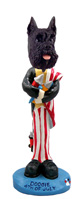 Schnauzer Black 4th of July Doogie Collectable Figurine
