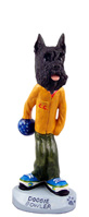 Schnauzer Black Bowler Doogie Collectable Figurine