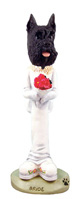 Schnauzer Black Bride Doogie Collectable Figurine