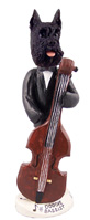 Schnauzer Black Bassist Doogie Collectable Figurine