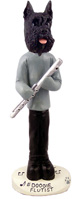 Schnauzer Black Flutist Doogie Collectable Figurine