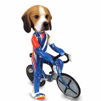 Beagle Bicycle Doogie Collectable Figurine