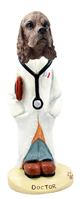 Cocker Spaniel Brown Doctor Doogie Collectable Figurine