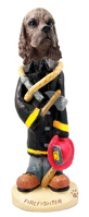 Cocker Spaniel Brown Fireman Doogie Collectable Figurine
