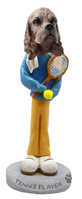 Cocker Spaniel Brown Tennis Player Doogie Collectable Figurine