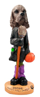 Cocker Spaniel Brown Happy Halloween Doogie Collectable Figurine
