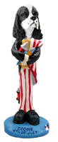 Cocker Spaniel Black & White 4th of July Doogie Collectable Figurine