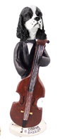 Cocker Spaniel Black & White Bassist Doogie Collectable Figurine