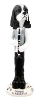 Cocker Spaniel Black & White Clarinetist Doogie Collectable Figurine