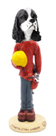 Cocker Spaniel Black & White Construction Worker Doogie Collectable Figurine
