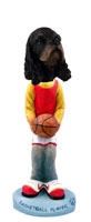 Cocker Spaniel Black & Tan Basketball Doogie Collectable Figurine