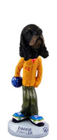 Cocker Spaniel Black & Tan Bowler Doogie Collectable Figurine