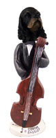 Cocker Spaniel Black & Tan Bassist Doogie Collectable Figurine