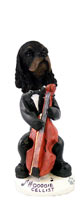 Cocker Spaniel Black & Tan Cellist Doogie Collectable Figurine