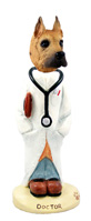 Great Dane Fawn Doctor Doogie Collectable Figurine