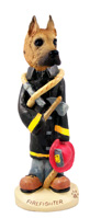 Great Dane Fawn Fireman Doogie Collectable Figurine