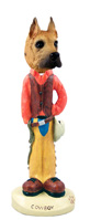 Great Dane Fawn Cowboy Doogie Collectable Figurine