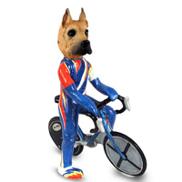 Great Dane Fawn Bicycle Doogie Collectable Figurine