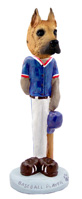 Great Dane Fawn Baseball Doogie Collectable Figurine