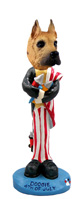 Great Dane Fawn 4th of July Doogie Collectable Figurine