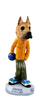 Great Dane Fawn Bowler Doogie Collectable Figurine