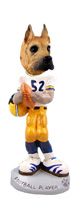 Great Dane Fawn Football Player Doogie Collectable Figurine